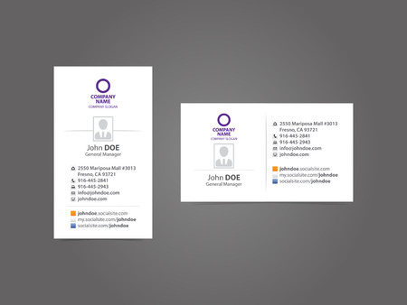 Professional Social Business Card Vector