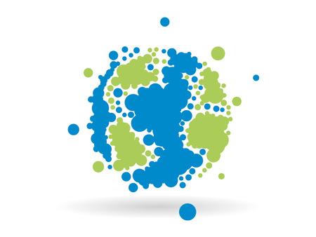 Graphique milieu des affaires en pointillé géométrique de globe terrestre Banque d'images - 30422886