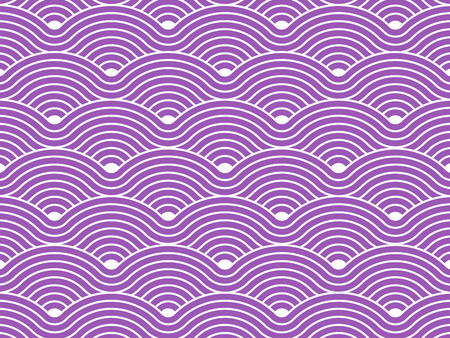 Bochtige golven herhalend patroon vector textuur achtergrond