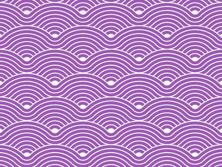 Kurvenreich Wellen wiederholenden Muster Vektor-Textur-Hintergrund Standard-Bild - 30450324