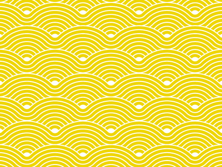 Curvy waves repetitive pattern vector texture background