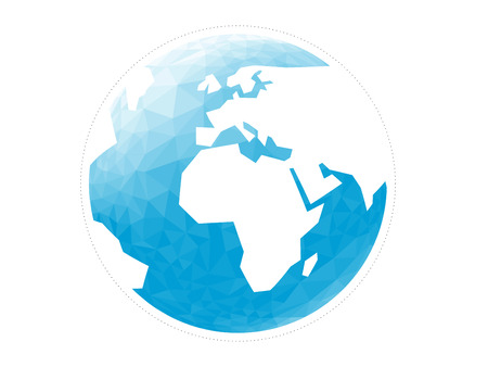 abstact: Geometric abstract earth globe sphere vector