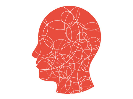 Circle background head presentation vector Vector
