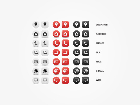 Multipurpose Business Card Icon Set of web icons for business, finance and communication Vettoriali