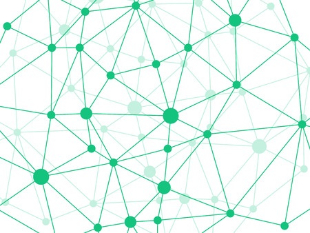 rumpled: Rumpled triangular low poly style grass green geometric network pattern. Abstract background. Vector graphic illustration template