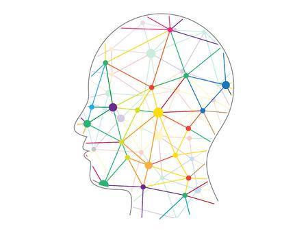 Driehoekige veelhoekige geometrische hoofd presentatie vector illustratie grafische sjabloon op een witte achtergrond