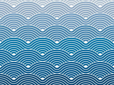 Colorful seamless répétitif sinueuse vagues motif de fond texture vecteur graphique géométrique Banque d'images - 30847392