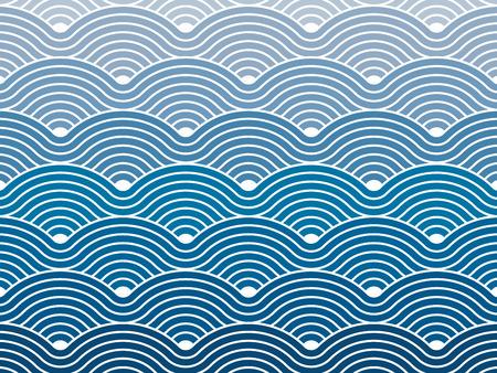 Kleurrijke geometrische naadloze herhalende vector bochtige golven patroon textuur achtergrond vector grafische illustratie Stock Illustratie