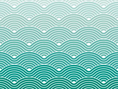 curvas: Colorful geom�trico sin fisuras vector repetitivo curvas olas patr�n de textura de fondo gr�fico ilustraci�n