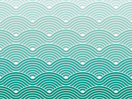 wave pattern: Colorful geometric seamless repetitive vector curvy waves pattern texture background vector graphic illustration