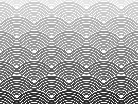 Colorful seamless répétitif sinueuse vagues motif de fond texture vecteur graphique géométrique Vecteurs