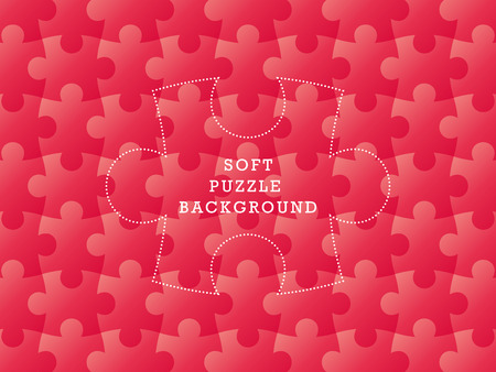 Colorful seamless puzzle geometric soft background  Vector graphic illustration template  Vector