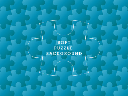 soft background: Colorful seamless puzzle geometric soft background  Vector graphic illustration template  Illustration