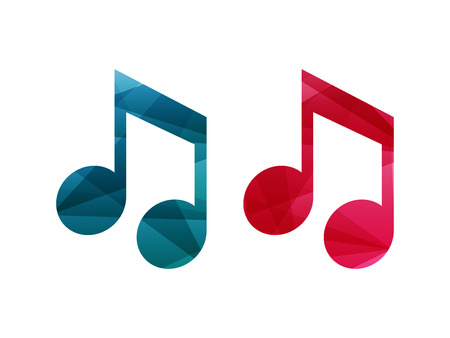 Set Of Rainbow Spectrum Colored Music Note Signs Musical Symbol