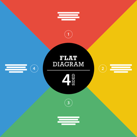er: Colorful flat full background stripe puzzle presentation diagram infographic template with explanatory text field Illustration