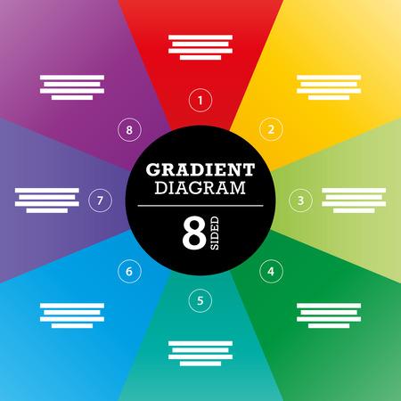 Gradient full background stripe diagram vector Vector