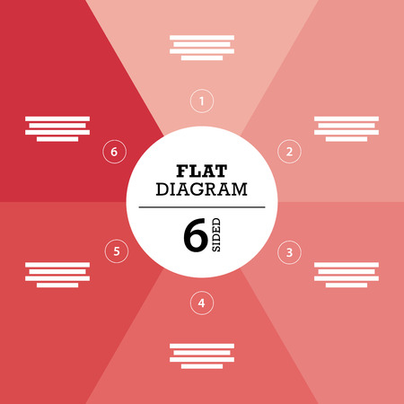 er: Red full background flat stripe diagram vector