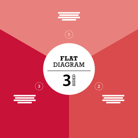 er: Red full background flat stripe diagram vector