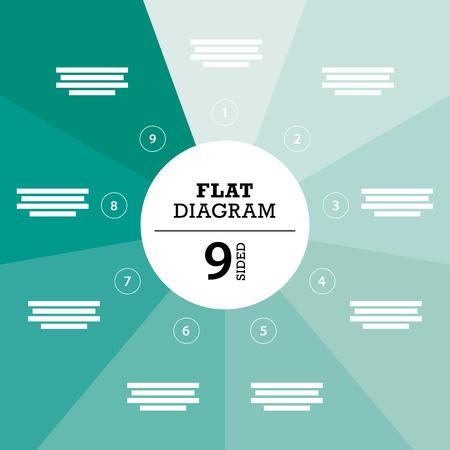 er: Green full background flat stripe diagram vector Illustration