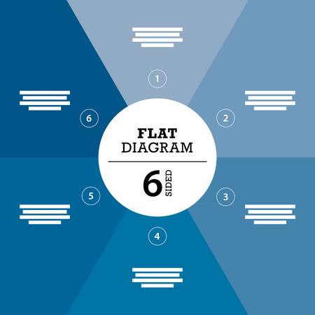 er: Blue full background flat stripe diagram vector