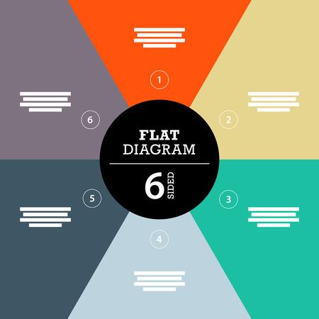 Kleurrijke volledige achtergrond streep puzzel presentatie diagram infographic sjabloon met verklarende tekst veld