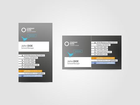 Glamorous Professional Social Business Card Ilustração