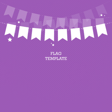 swag: Bunting or swag template for scrap booking parties, baby showers and sales.