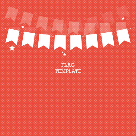 swag: Bunting or swag template for scrapbooking parties, baby showers and sales.