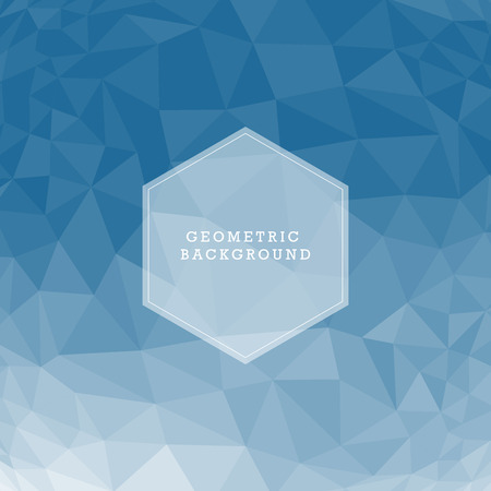 Blue abstract geometric rumpled triangular low poly style illustration graphic background Vector