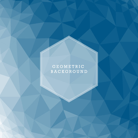 rumpled: Blue abstract geometric rumpled triangular low poly style vector illustration graphic background