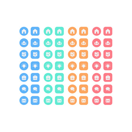 Multipurpose set of web icons for business, finance and communication Vector
