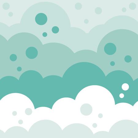 Monocolor fluffy cloud background Vector