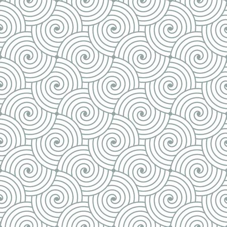 Kleurrijke geometrische naadloze herhalend bochtige golven patroon textuur achtergrond. Stock Illustratie