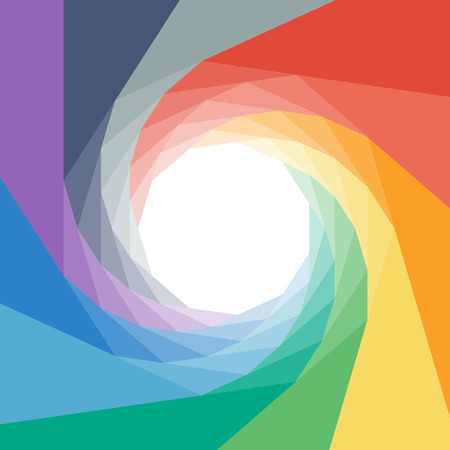 rumpled: Colorful rumpled geometric swirl background design. Vector graphic template.