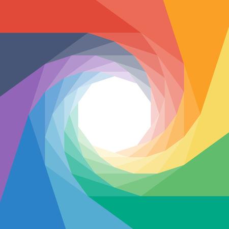 rumpled: Colorful rumpled geometric swirl background design.