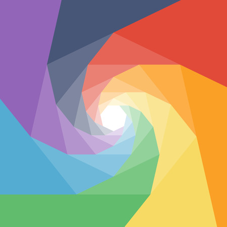 Colorful rumpled geometric swirl background design.