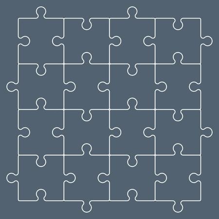 Line puzzle pieces forming a pattern background. Vector illustration graphic. Ilustração