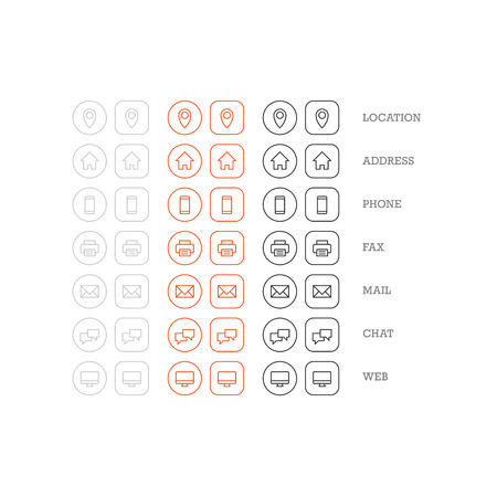 multipurpose: Flat multipurpose business card icon set of web icons for business finance and communication. Vector graphic template.