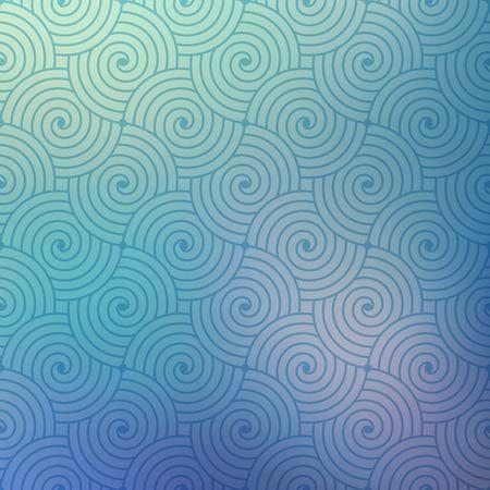 Geometrische vector bochtige golven patroon textuur op onscherpe achtergrond. Vector grafische illustratie sjabloon.