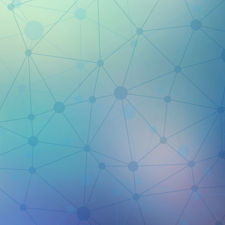 Rumpled triangular low poly style geometric network pattern.