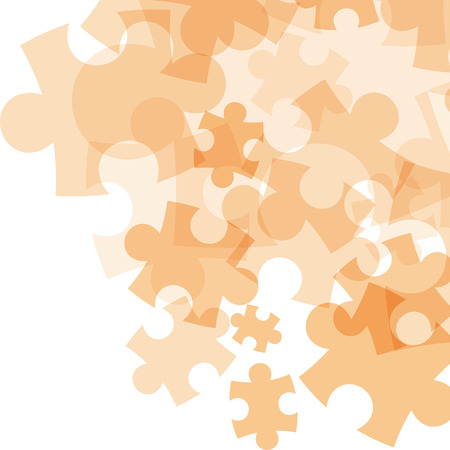 whit: Abstract monocolor puzzle background. Vector graphic template.
