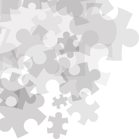 Abstract monocolor puzzle background. Vector graphic template.