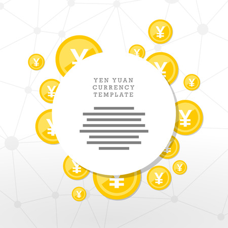 Mainstream currency gold coins. Money concept illustration. Vector graphic template.