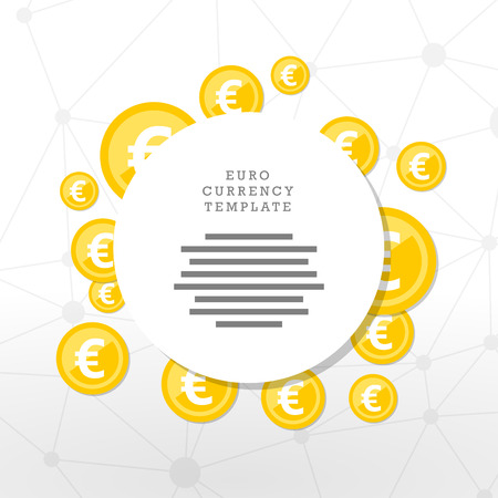mainstream: Mainstream currency gold coins. Money concept illustration. Vector graphic template.