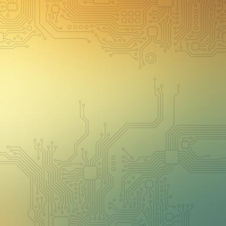 High-tech technology abstract background. Ilustração