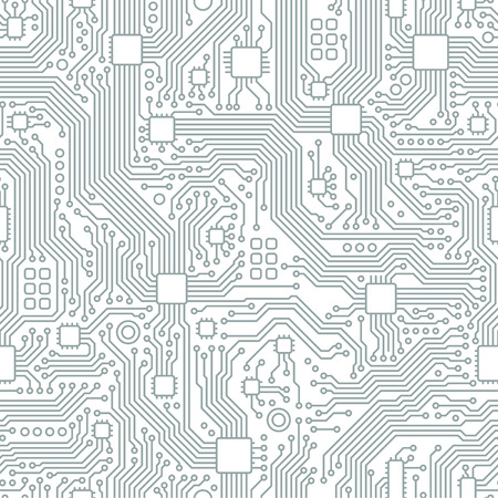 Technology abstract motherboard illustration background. Vector graphic template. Vettoriali