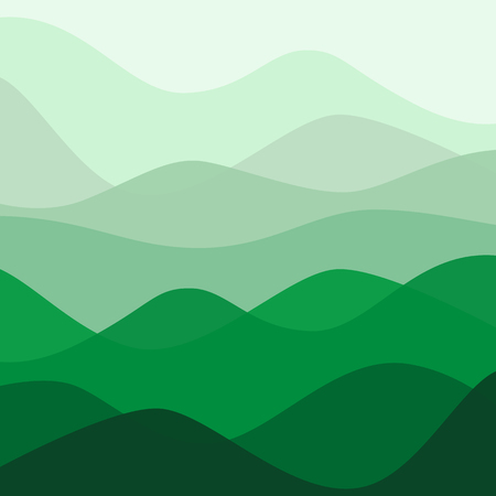 Abstract water nature landscape. Decorative square background. Vector graphic template.