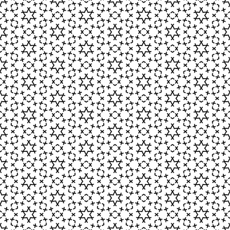 Geometric seamless repetitive particle stars pattern texture background. Vector graphic illustration template.