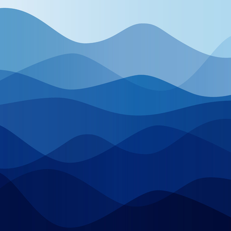 discreet: Abstract water nature landscape. Decorative square background. Vector graphic template.