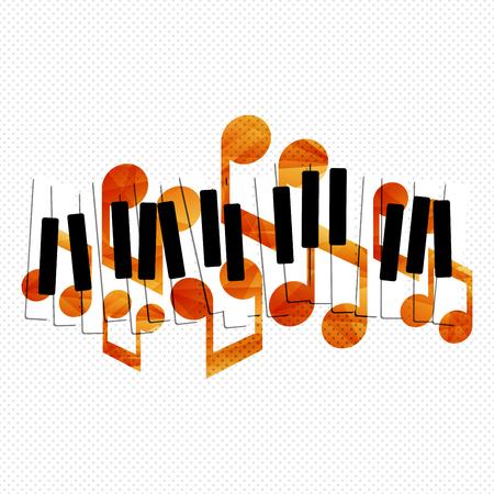 Klaviermusik kreative Konzept Illustration. Vektor-Grafik-Vorlage. Standard-Bild - 46791299